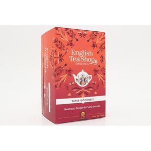 English Tea Shop Červená řepa, zázvor a listy curry Super Veggie Tea 20 sáčků - SLEVA - poškozená krabička