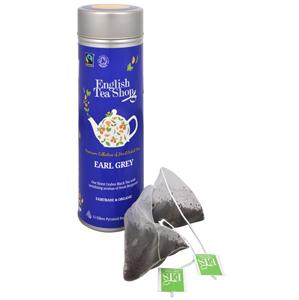 English Tea Shop Černý čaj Earl Grey s bergamotem - plechovka s 15 bioodbouratelnými pyramidkami - SLEVA - promáčklá plechovka čaje