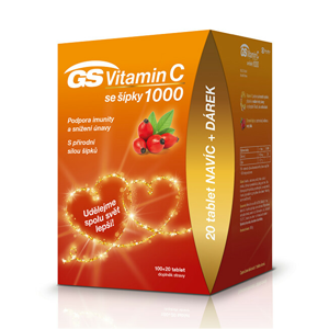 GreenSwan GS Vitamin C 1000 + šípky tbl. 100+20 edice 2020 - SLEVA - pomačkaná krabička