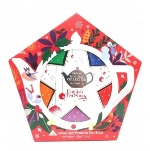 English Tea Shop Dárková kolekce s Červeno stříbrnou hvězdou 16 čajových sáčků - SLEVA - poškozený obal sady