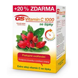 GreenSwan GS Vitamin C 1000 + šípky 100 tbl. + 20 tbl. ZDARMA - SLEVA - pomačkaná krabička