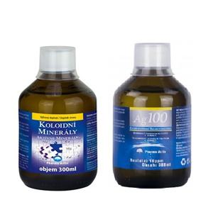 Pharma Activ Koloidní minerály 300 ml + Koloidní stříbro Ag100 (10ppm) 300 ml - SLEVA - potrhaná krabička, zalepeno