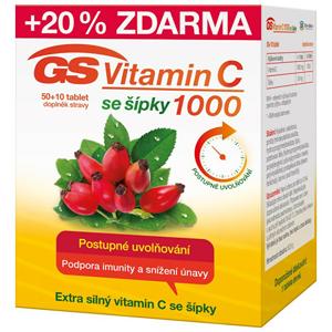 GreenSwan GS Vitamin C1000 + šípky 50 + 10 tablet - SLEVA - poškozená krabička