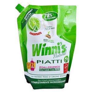 Winni´s Piatti Lime Ecoricarica koncentrovaný mycí prostředek na nádobí s vůní limetky - náhradní náplň 1000 ml - SLEVA - poškozená etiketa