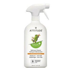 Attitude Čistič na koupelny Nature+ s vůní citronové kůry s rozprašovačem 800 ml - SLEVA - poškozená etiketa