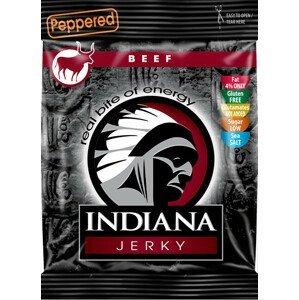 Indiana Indiana Jerky beef (hovězí) Peppered 25 g - SLEVA - KRÁTKÁ EXPIRACE 31.12.2021