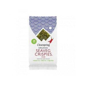 Clearspring Seaveg Crispies – Křupky z mořské řasy Nori s chilli BIO 4 g - SLEVA KRÁTKÁ EXPIRACE 7.12.2021