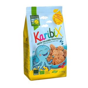 Keksy ovesno-ovocné celozrnné KARIBIX BOHLSENER MÜHLE BIO 150 g