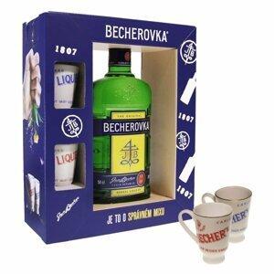 Becherovka Original 38% 0,5l dárkové balení s kalíšky
