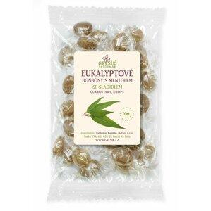 Eukalyptové bonbóny s mentolem se sladidlem 100 g