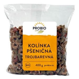 BIOMILA spol. s r. o. Kolínka celozrnná pšeničná trojbarevná BIO PROBIO 400 g