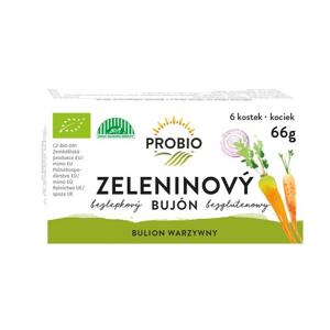 PRO-BIO, obchodní společnost s r.o. Bujón zeleninový kostky 6 x 0,5l 66 g BIO