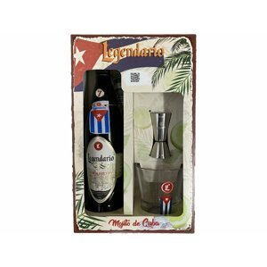 Legendario Elixír de Cuba Mojito dárkový set 34 % 0,7l